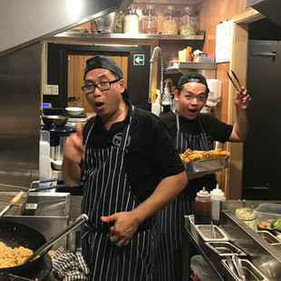 Our chefs busy in the kitchen