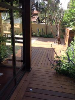 מבט מהבית לחצר