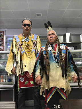 Two Indians In A Diner