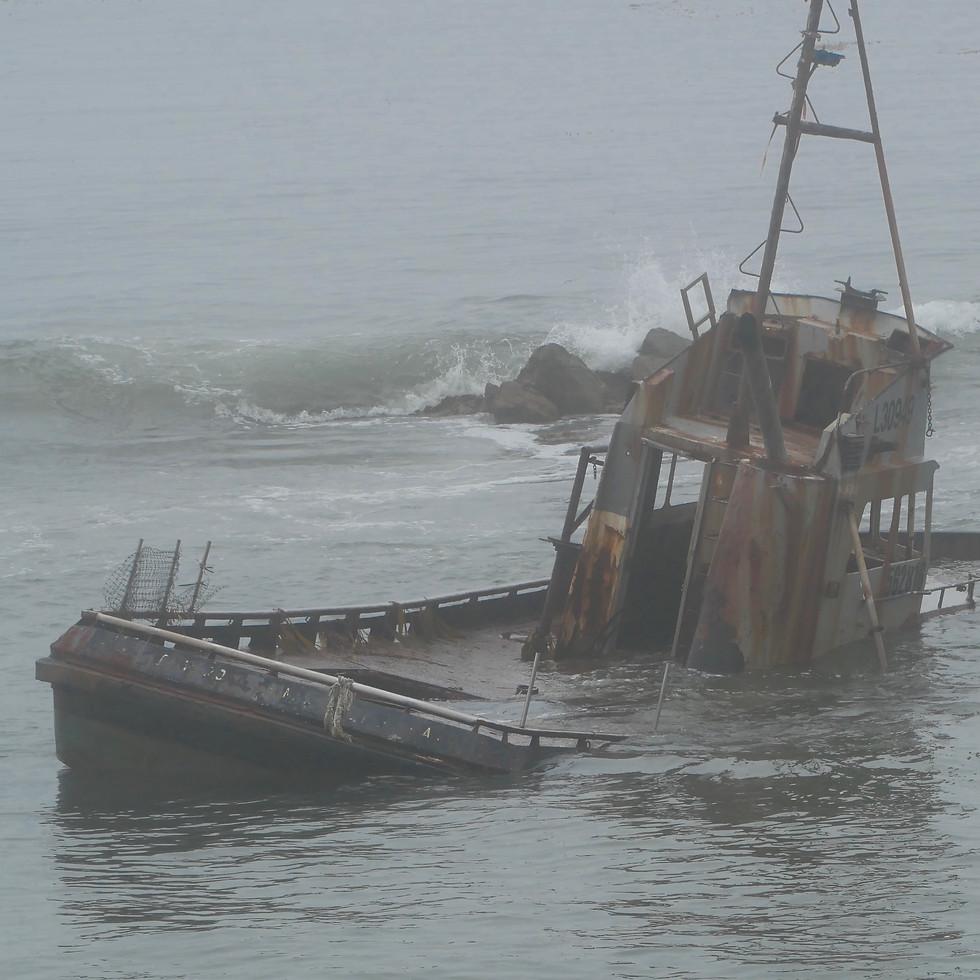 Shipwrecked off the coast of Morrow Bay