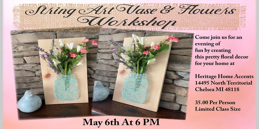 String Art Vase & Flowers Workshop