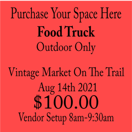 Food Truck Market On The Trail