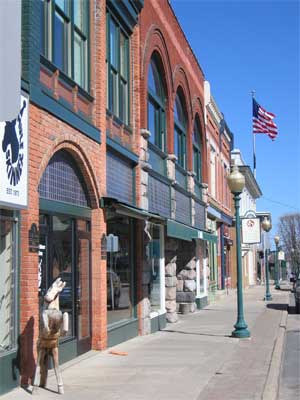 Historc downtown Chelsea Michigan