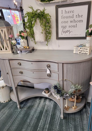 Shabby-Gray-Buffet-Near-Howell-Michigan