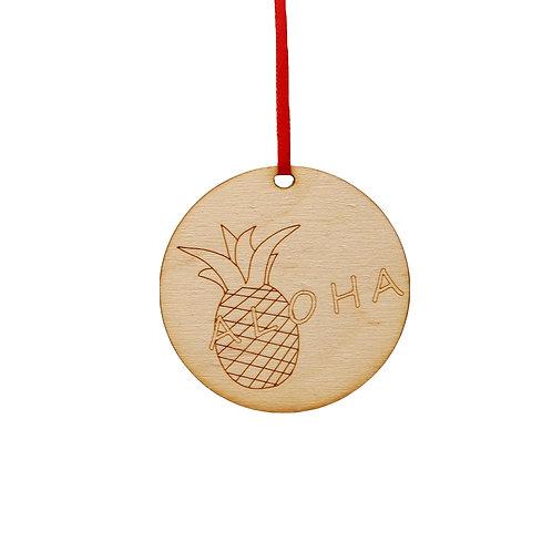 Aloha Pineapple Ornament