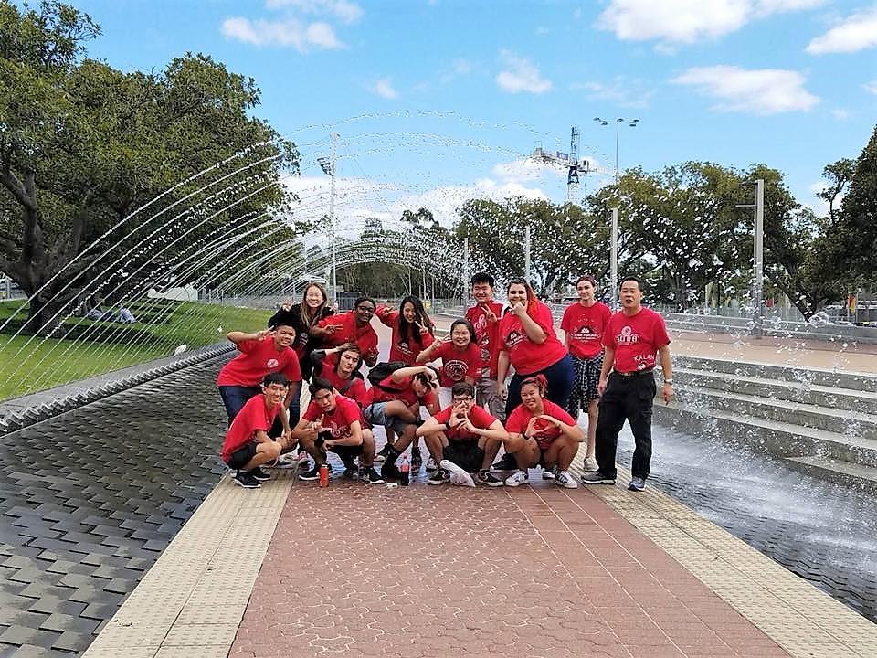 Big fountain AU