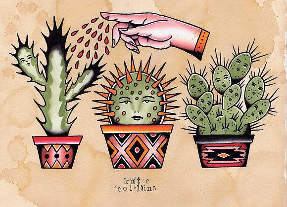 Cactus Tattoo Flash