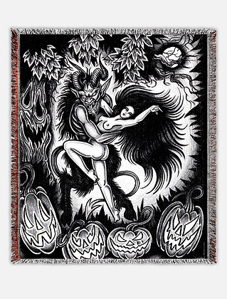 Dancing with the Devil Woven blanket