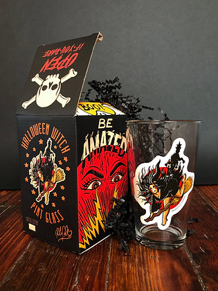 Witch Girlie Glass! 16 oz Limited Edition, Numbered