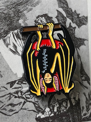 Bat Costumed babe Enamel pin