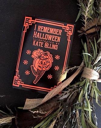 I Remember Halloween Book