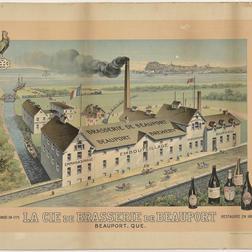 Affiche publicitaire de la Brasserie de Beauport. Début du XXe siècle. Archives de la Société d'art et d'histoire de Beauport.