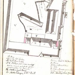 La brasserie de Beauport peu avant sa fermeture. Plan des édifices de la Brasserie Stuart et Gordon, Bibliothèque et Archives nationales du Québec, 1840, CN301, S49, D8179.