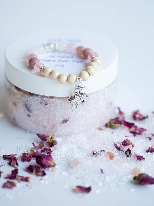 Unicorn - Magic Bath Dust & Crystal Bracelet