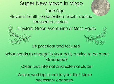 New Moon Intentions with Essential Oils and Crystals