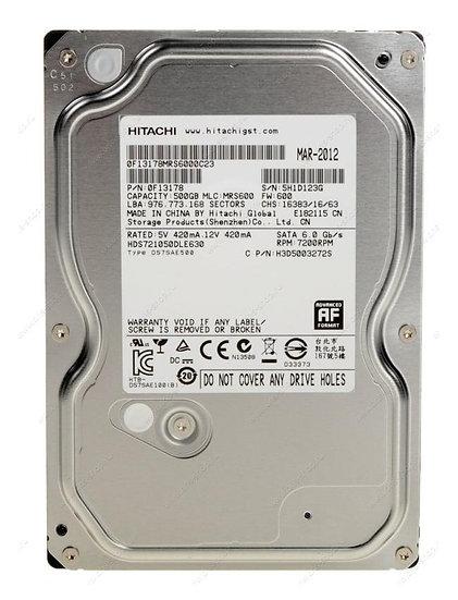 """Hitatchi 500GB 3.5"""" SATA HDD"""