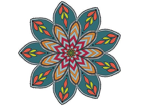 Henna Style Floral Mandala