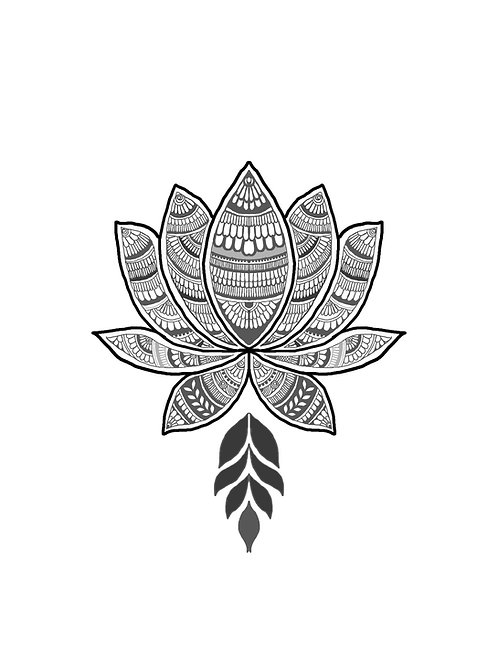 Henna Patterned Lotus