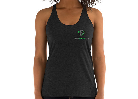 Start Giving Local Charity Racerback Tank