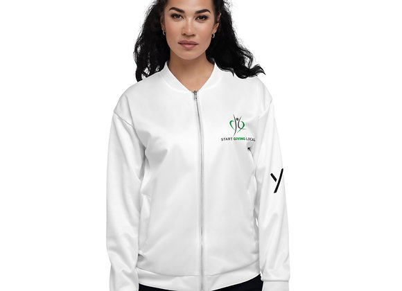 Start Giving Local Charity Unisex Bomber Jacket