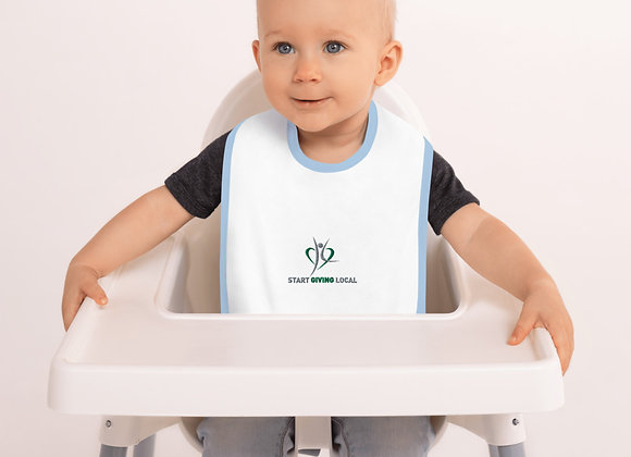 Start Giving Local Charity Embroidered Baby Bib