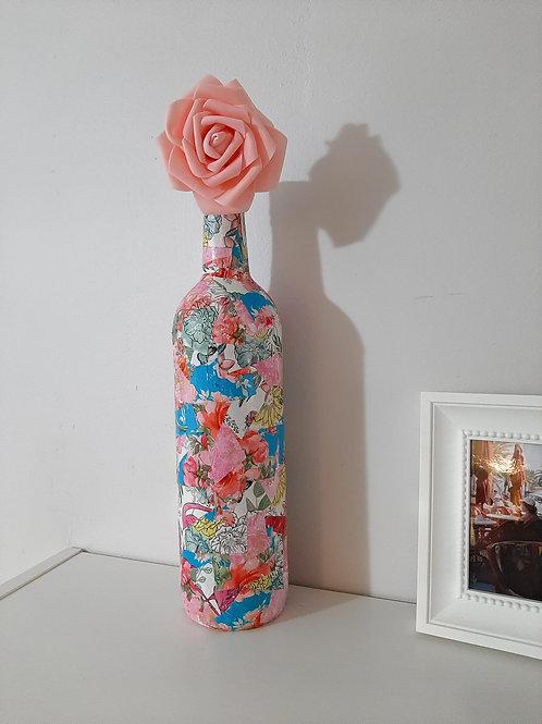 floral Decoupage bottle