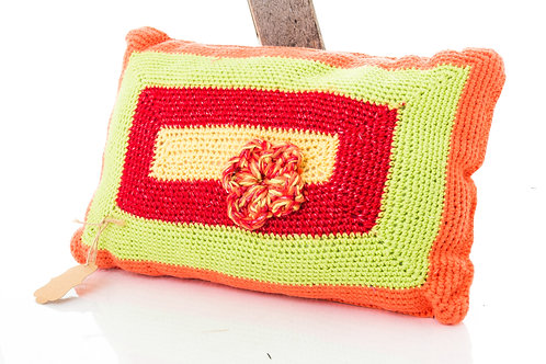 Vibrant Crochet Throw Pillow