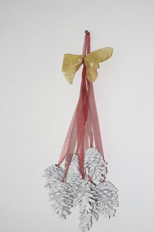 White Pine cone hanger
