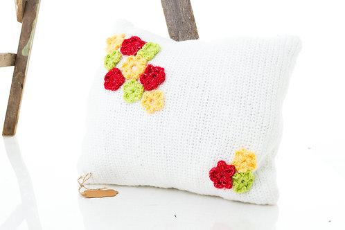 Spring Flower Crochet Pillow