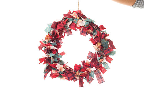 Up Cycled ragged wreath