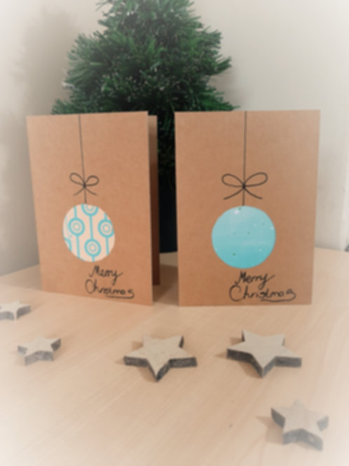 Pack of 10 Bauble Christmas Cards