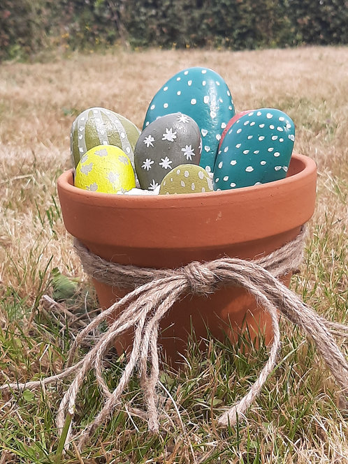Stone cactus plant pot