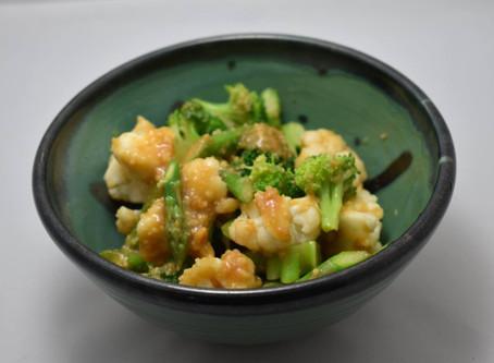 野菜三種の味噌ドレッシング和え