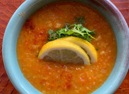 レンズ豆のスープレモン味