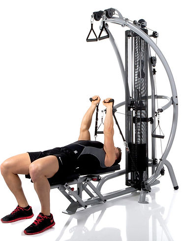 Inspire M1 home gym in prone position