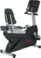life Fitness self generating Club recumbent bike