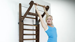 Nohrd Wallbars with female model hanging from top rung