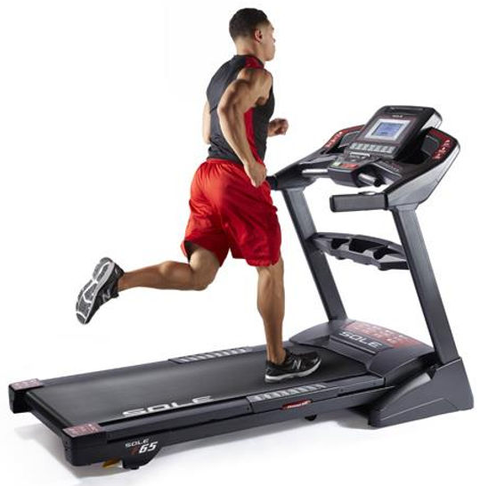 Sole F65 Treadmill with Male Model Running