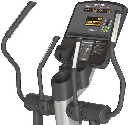 Lif Fitness Club elliptical crosstrainer console and handles
