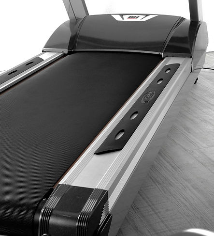Close up of BH G799TVC treadmill running deck and belt