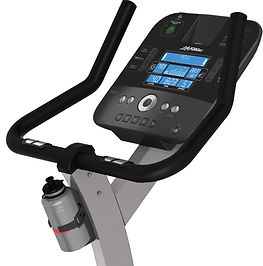 Life Fitness C1 Lifecycle upright exercise bike console and handle bars