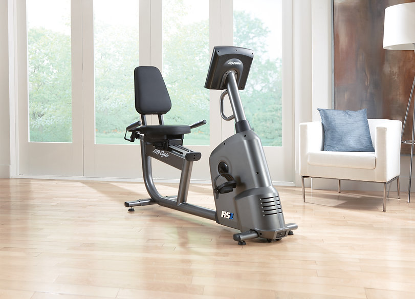 Life Fitness RS1 Recumbent Lifecycle in room