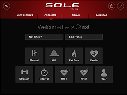Sole F85 Treadmill Apps readouts