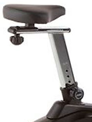 Sole B74 Upright Bike showing vertical nd horizontal seat adjustment
