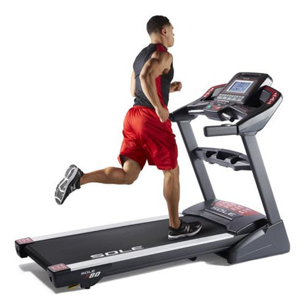 Sole F80 Treadmill with male model running