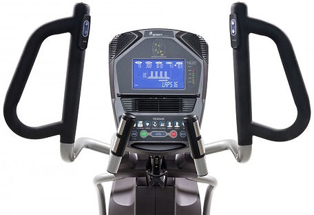 Spirit XE895 Adjustble Stride Elliptical handle bars and console