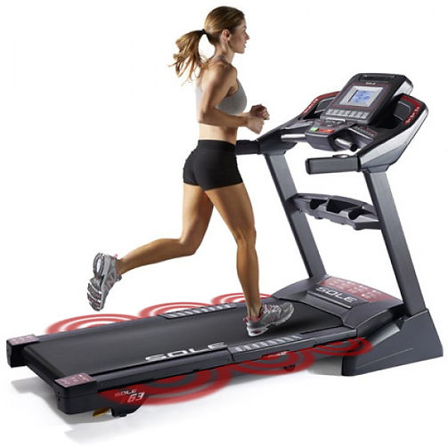 Sole F85 Treadmill cushioned running deck