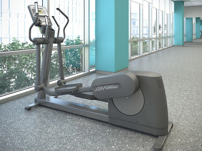 Life Fitness Club elliptical crosstrainer in office