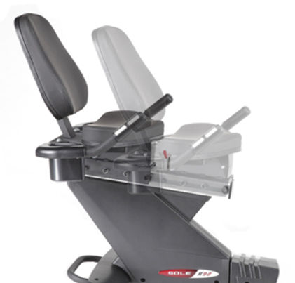 Sole R72 Recumbent Bike adjustable seat
