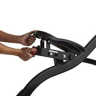 Sole E95 Elliptical Crosstrainer angle adjustment on footplate to deliver a more comfortable workout